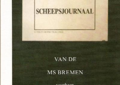 Scheepsjournaal van de MS Bremen voorheen De Knoek