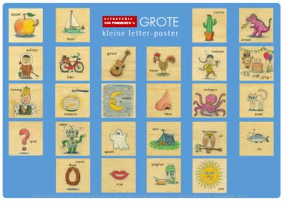 Van Pommeren's GROTE kleine letterposter